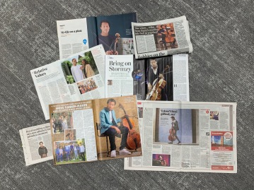 Clockwise from top: Observer Food Monthly, Daily Mail, Radio Times, i, HELLO!, Evening Standard, Sunday Times Magazine