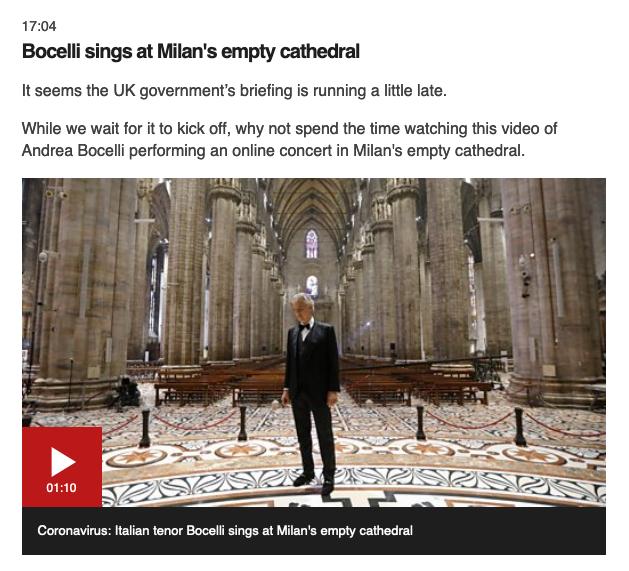 Andrea Bocelli BBC News